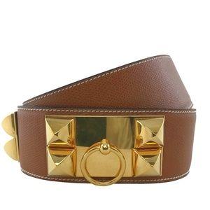 Hermes Epsom Leather Collier de Chien Belt